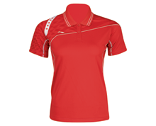 Buy Badminton Clothing Kid's Polo PROVINCIAL TEAM [RED] AAYJ036-1 for Badminton