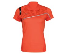 Buy Badminton Clothing Kid's Polo PROVINCIAL TEAM [ORANGE] AAYJ042-1 for Badminton