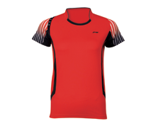 Badminton Clothing Kid's T Shirt NATIONAL TEAM [RED] AAYJ146-2