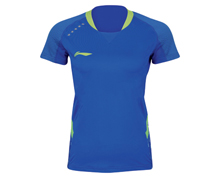 Badminton Clothing Women's T-Shirt NATIONAL TEAM [BLUE] AAYK004-2