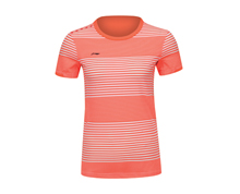 Badminton Clothing Women's T-Shirt NATIONAL TEAM [PEACH] AAYK028-2