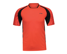Buy Badminton Clothing Men's T Shirt PROVINCIAL TEAM [RED] AAYK083-3 for Badminton