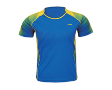 Buy Badminton Clothing Men's T Shirt NATIONAL TEAM [BLUE] AAYK093-1 for Badminton