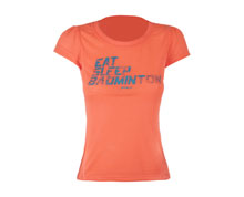 Badminton Clothes - Women's T Shirt [PEACH]