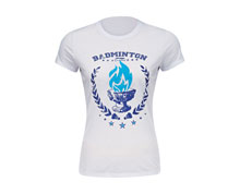 Women's Badminton T Shirt [WHITE] AHSL078-1