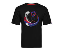 Buy Promo Badminton T Shirt [BLACK] US Medium for Badminton