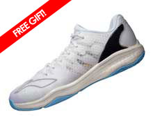 Badminton Shoes - Men's National [WHITE]
