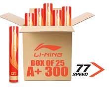 Badminton Shuttlecocks A+ 300 SUPER PREMIUM Grade [77] BOX of 25