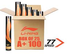 Badminton Shuttlecocks A+ 100 PREMIUM Grade [77] BOX of 25