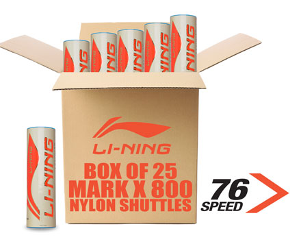 Badminton Birdies Mark X800 NYLON [MEDIUM] BOX of 25