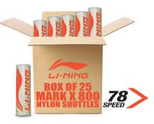 Badminton Shuttlecocks X800 NYLON [FAST] BOX of 25