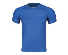 Men's Badminton T Shirt [BLUE] AAYM037-2