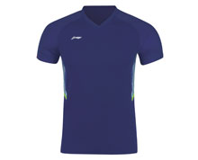 Buy Men's Badminton T Shirt  [BLUE] AAYN165-2 for Badminton