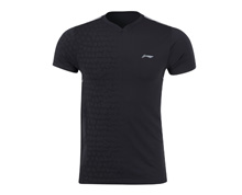 Badminton Clothes - Men's T Shirt [BLACK]