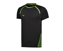 Buy Badminton Clothes - Men's T Shirt [BLACK] for Badminton