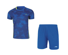 Men's Badminton Uniform [BLUE] AATN031-4