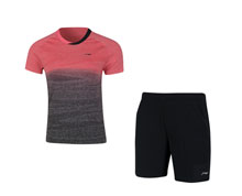 Men's Badminton Uniform [RED] AATN051-4