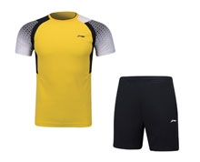 Men's Badminton Uniform [YEL] AATP019-4