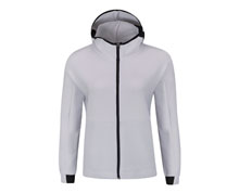 Badminton Clothes - Men's Hoodie Jacket [WHITE]