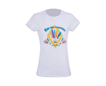 Buy Women's Badminton T Shirt [WHITE] AHSL068-1 for Badminton