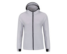 Badminton Clothes - Women's Hoodie Jacket [WHITE]