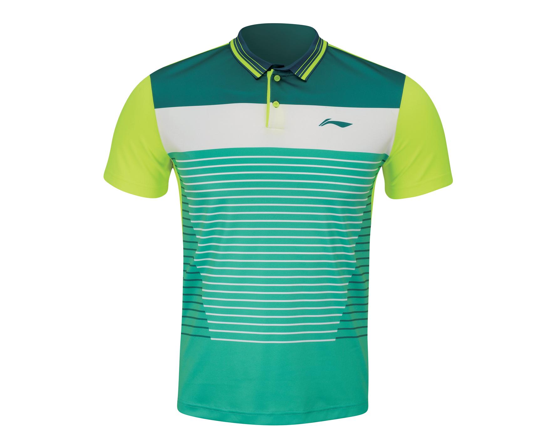 Li Ning Mens Badminton Shirt Polo Shirt Aaym033 4