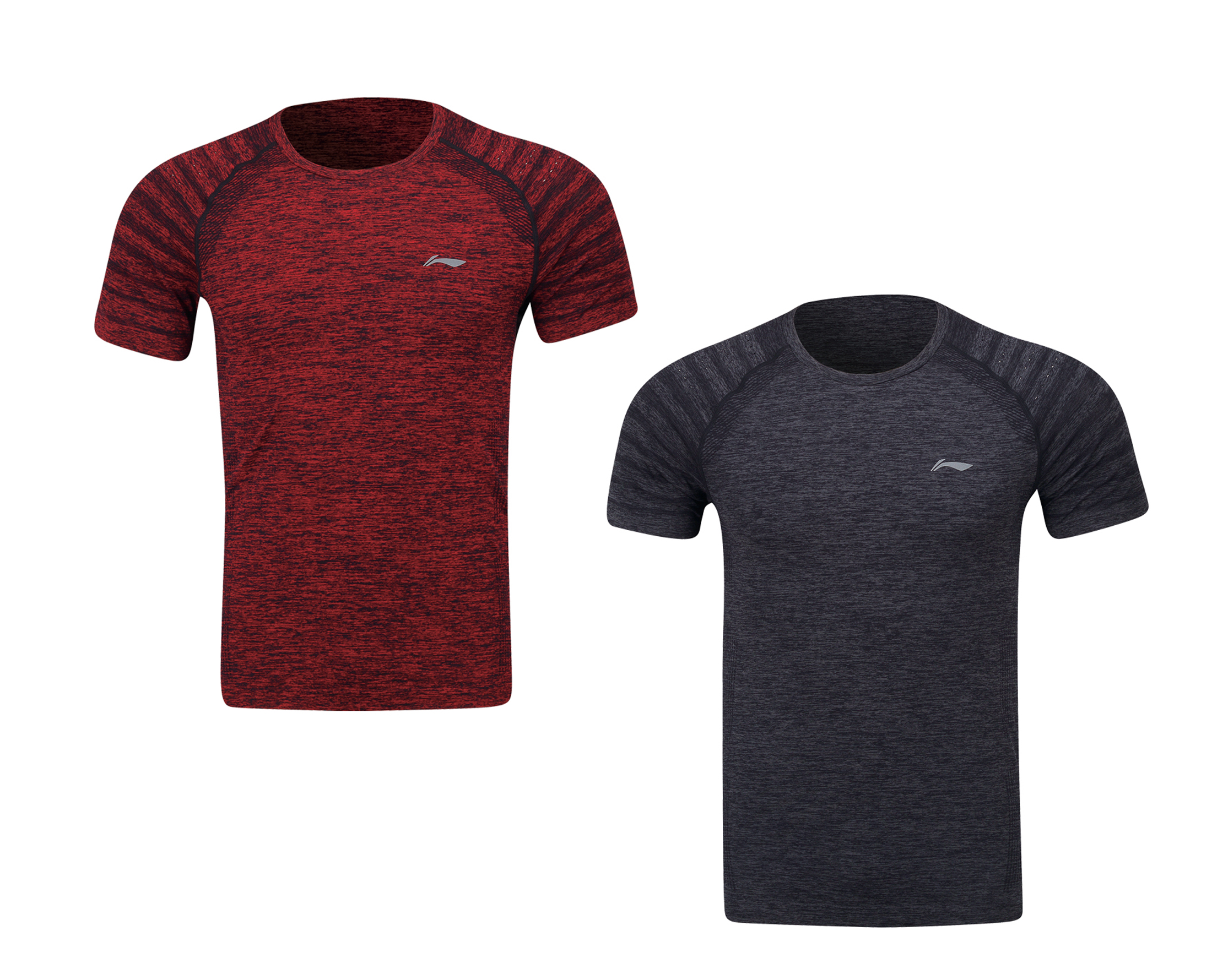 Badminton Clothes Men S T Shirt Red Grey Li Ning Badminton Superstore